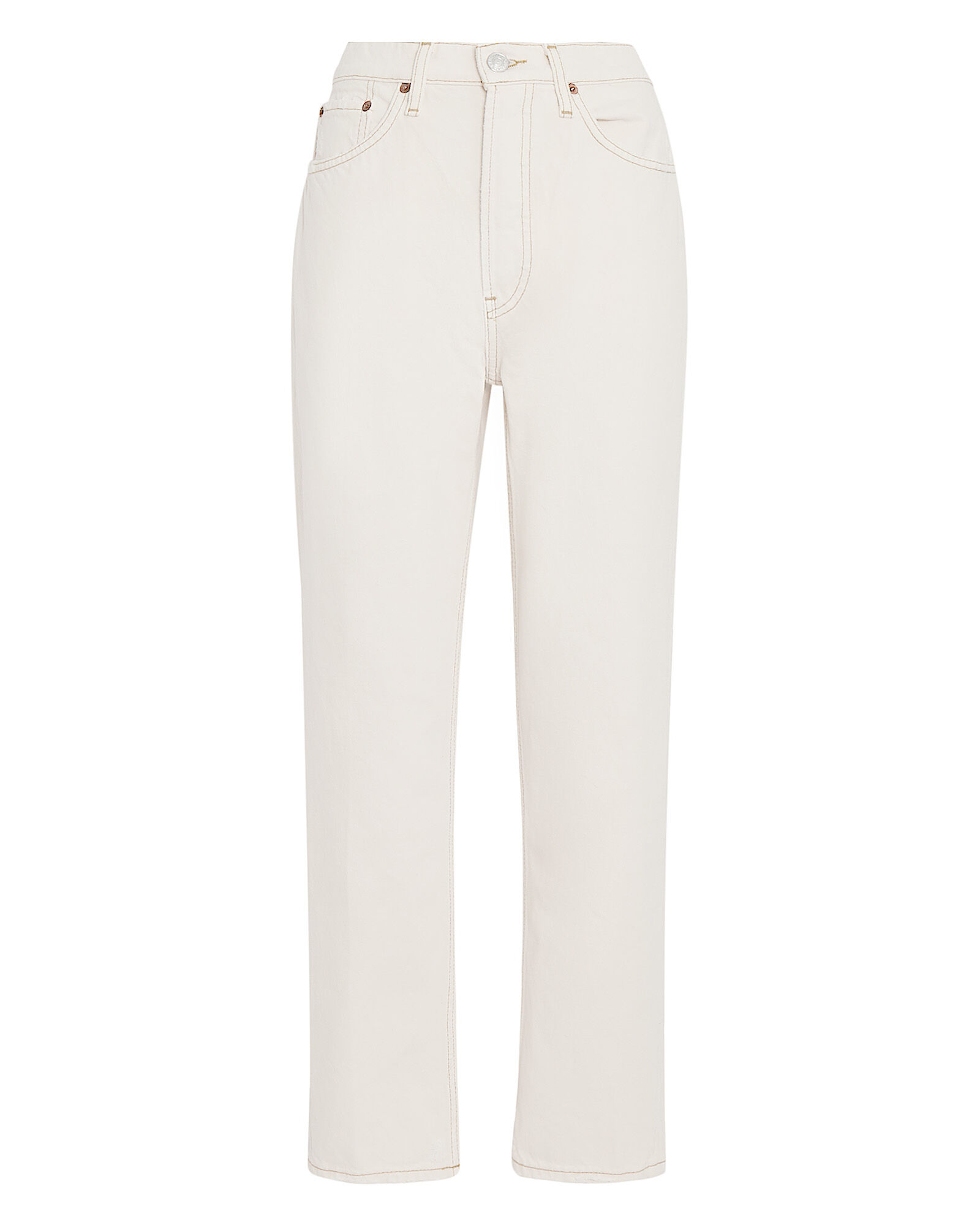 70s High-Rise Stove Pipe Jeans, VINTAGE WHITE, hi-res