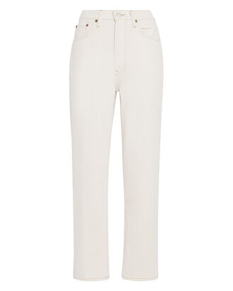 70s High-Rise Stove Pipe Jeans, WHITE, hi-res