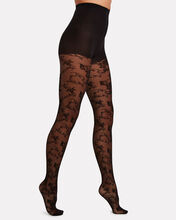 Charming Lace Tights, BLACK, hi-res