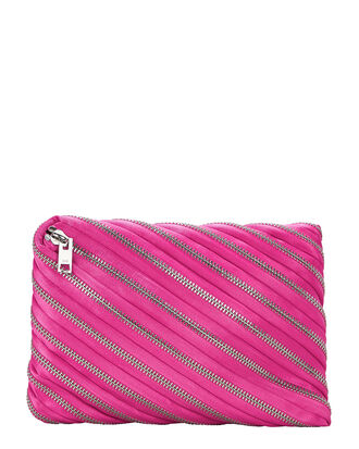 Unzip Hot Pink Clutch, PINK, hi-res