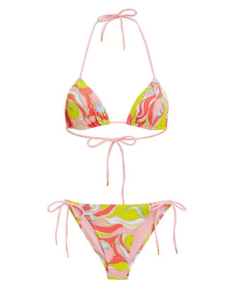 Rivera String Bikini Set, PINK/GREEN, hi-res