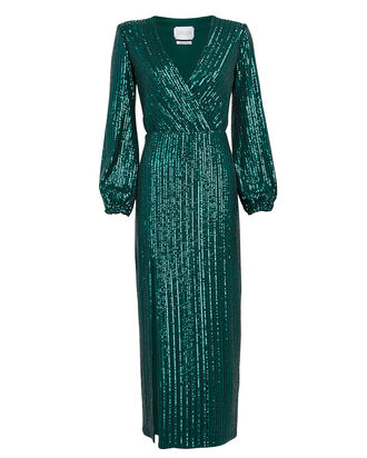 Becca Sequin Midi Dress, EMERALD, hi-res