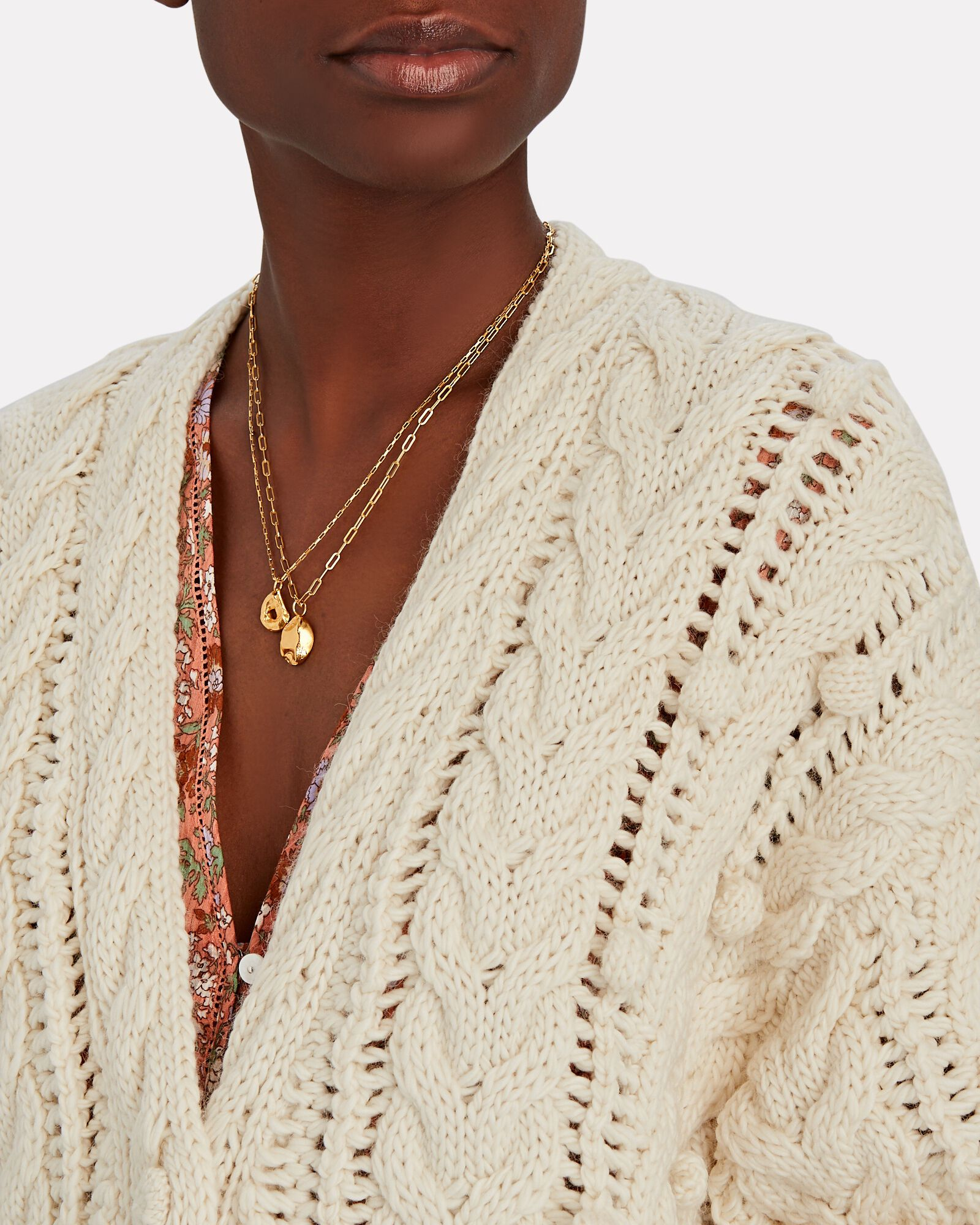 Lilo Oversized Cable Knit Cardigan, IVORY, hi-res