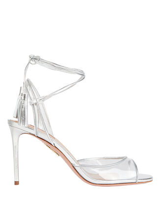 Nudist 85 Strappy Sandals, SILVER, hi-res