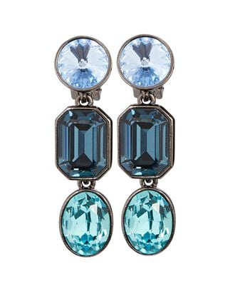 Ombré Crystal Drop Earrings, BLUE, hi-res