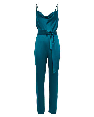 Maria Silk Charmeuse Jumpsuit, BLUE-MED, hi-res