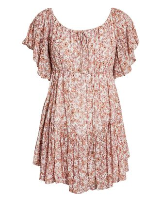 Nicola Off-the-Shoulder Floral Mini Dress, MULTI, hi-res