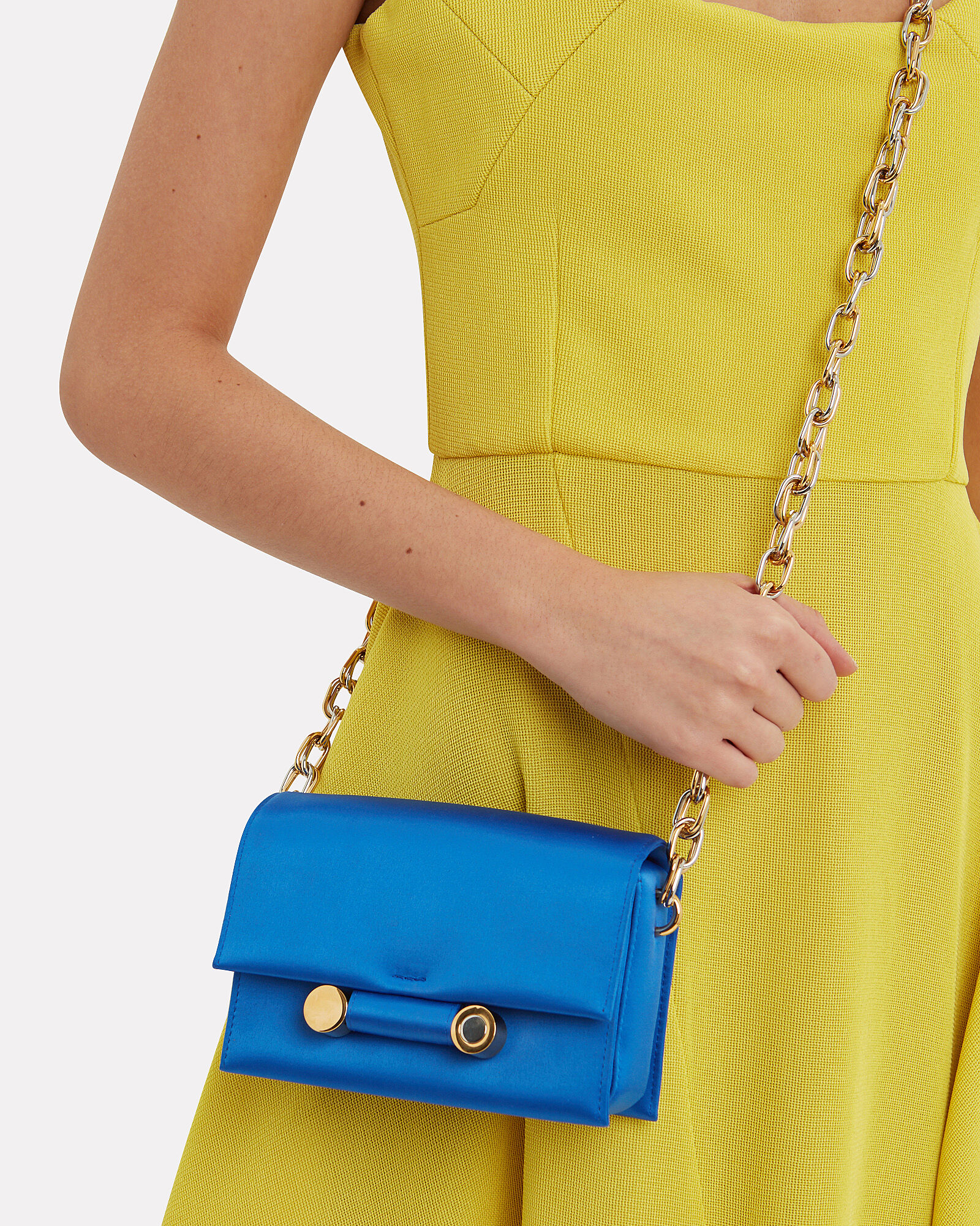 Caddy Satin Crossbody, BLUE, hi-res