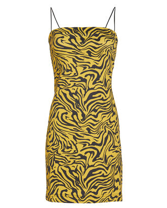 Lotte Zebra Print Denim Dress, YELLOW/ZEBRA, hi-res