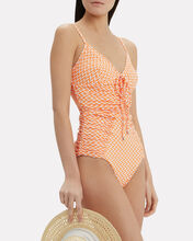 Ruched One Piece Swimsuit, MULTI, hi-res