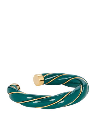 Diana Twisted Bracelet, GREEN, hi-res