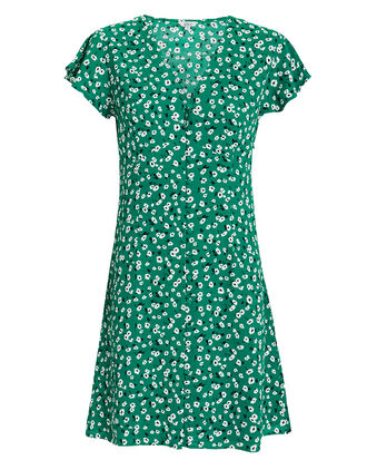 Helena Mini Dress, GREEN/FLORAL, hi-res
