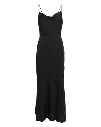 Paris Silk Slip Dress, BLACK, hi-res