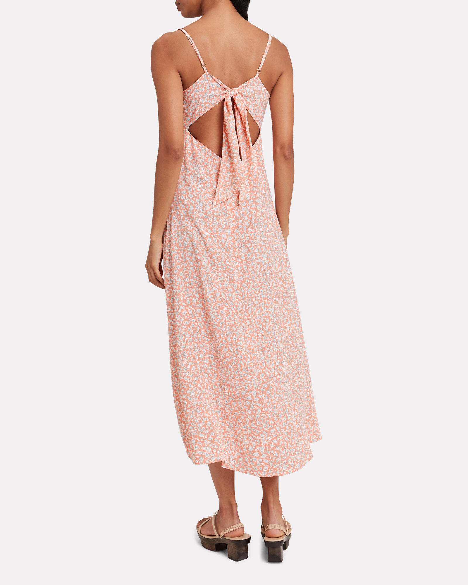 Jules Sleeveless Floral Dress, PEACH/FLORAL, hi-res