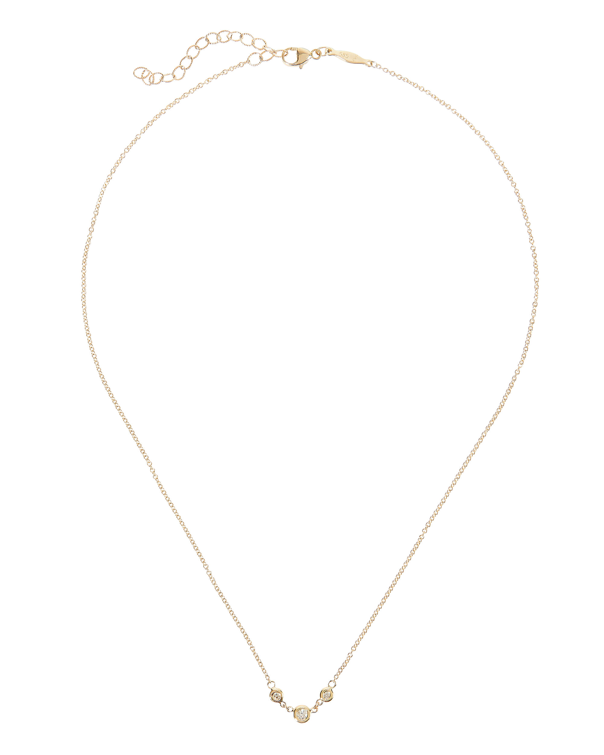 Emily Three Diamond Necklace, GOLD, hi-res