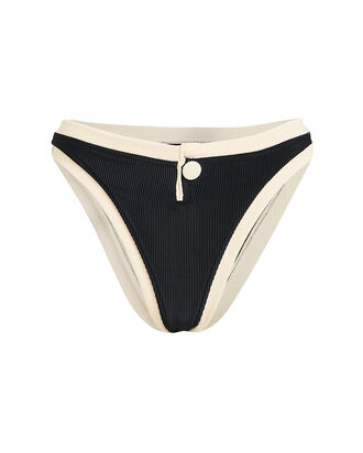 Grace High-Rise Bikini Bottoms, BLACK/BEIGE, hi-res