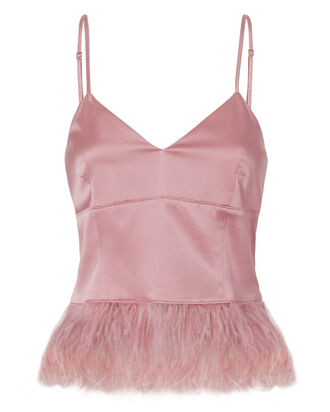 Narcissa Feather Top, PINK, hi-res