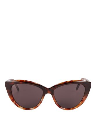 Feminine Cat Eye Sunglasses, BROWN, hi-res