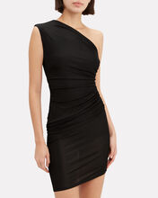One Shoulder Jersey Mini Dress, BLACK, hi-res