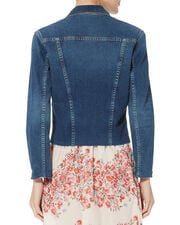 Janelle Cropped Denim Jacket, DENIM, hi-res