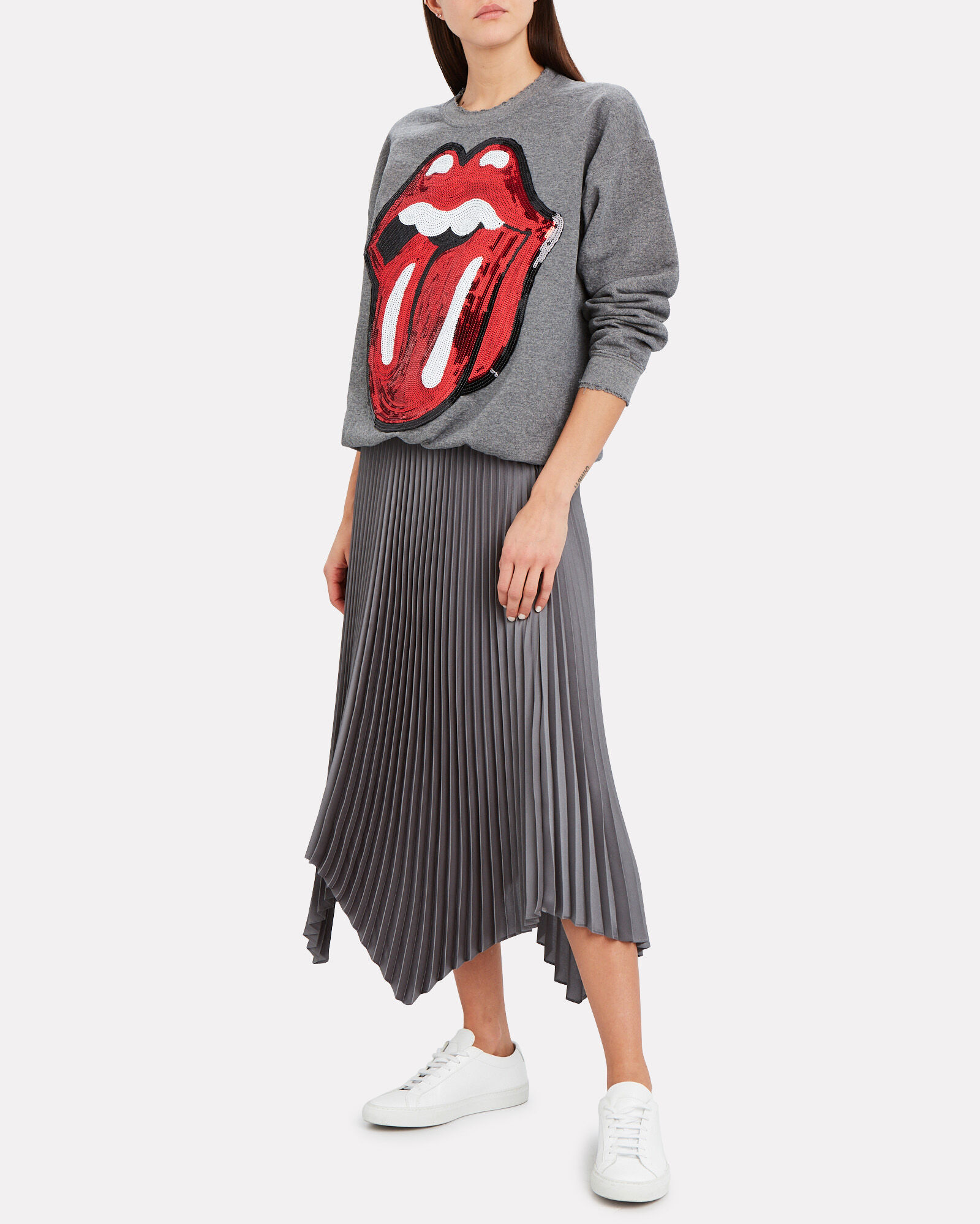Rolling Stones Sequin Sweatshirt, GREY, hi-res