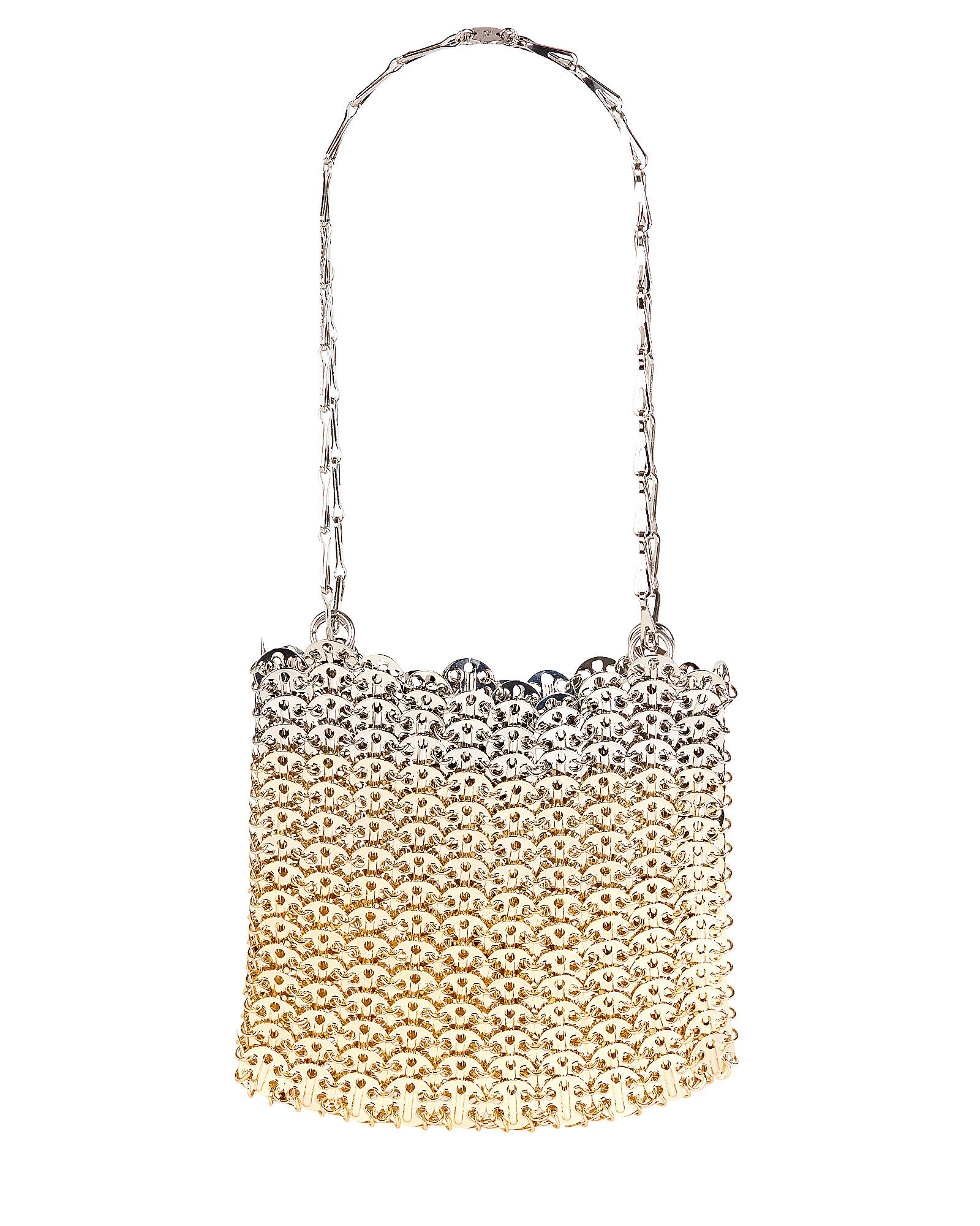 1969 Ombré Chainmail Bag, GOLD/SILVER, hi-res