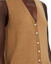 Jo V-Neck Sweater Vest, BEIGE, hi-res