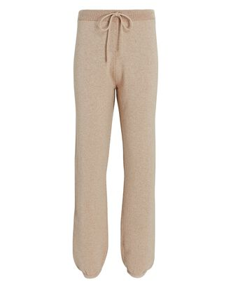 Wool-Cashmere Knit Joggers, BEIGE, hi-res
