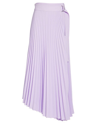 Arielle Pleated Midi Skirt, PURPLE-LT, hi-res