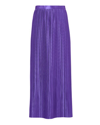 Pleated Purple Skirt, PURPLE, hi-res