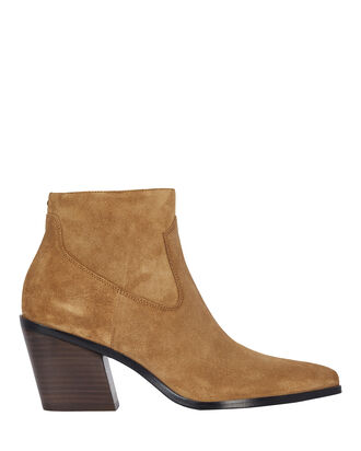 Razor Suede Ankle Boots, BROWN, hi-res