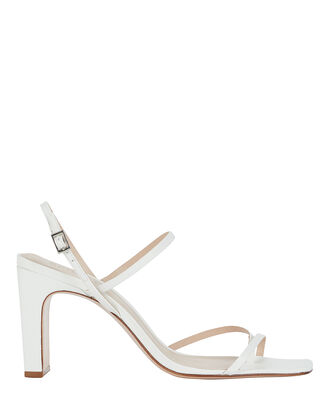 Amaia Slingback Leather Sandals, WHITE, hi-res