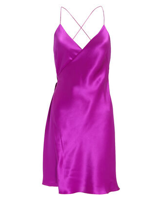 Orchid Mini Wrap Dress, ORCHID PURPLE, hi-res