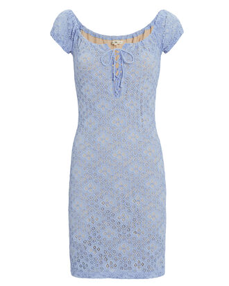 Sweetpea Mini Dress, BLUE-LT, hi-res
