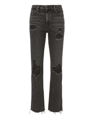 Cult Net Distressed Grey Jeans, GREY, hi-res
