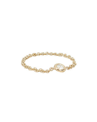 Floating Diamond Chain Ring, GOLD, hi-res