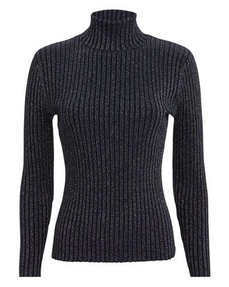 Marso Midnight Silver Turtleneck, NAVY, hi-res