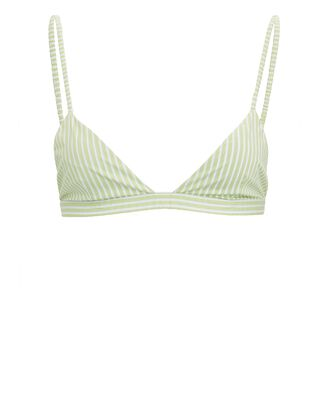 Guenda Striped Poplin Bralette, LIGHT GREEN/WHITE, hi-res