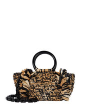 Corallina Fringed Straw Tote, MULTI, hi-res