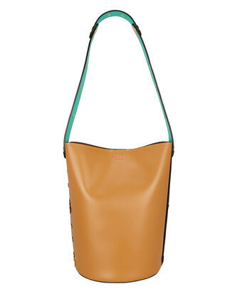 Punch Bucket Bag, CORAL/YELLOW/TURQUOISE, hi-res