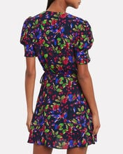 Lea Floral Wrap Dress, MULTI, hi-res