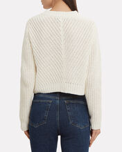 Lace-Up Detail Crop Sweater, IVORY, hi-res