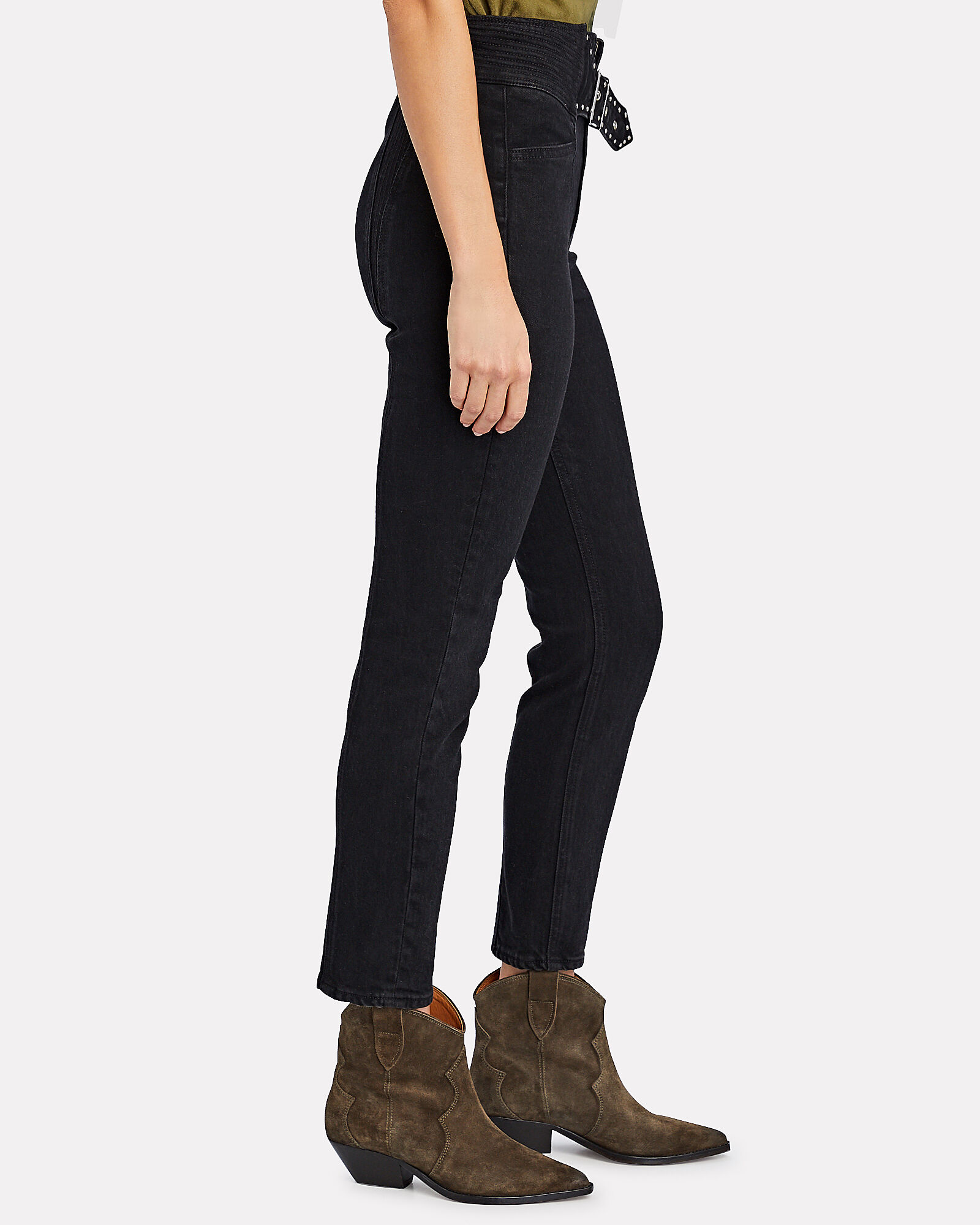 Alivia Belted Skinny Jeans, Late Night, hi-res