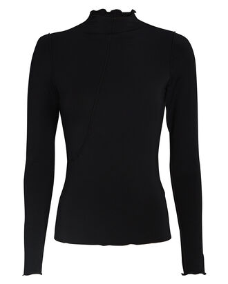Zane Jersey Turtleneck Top, BLACK, hi-res