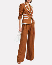 Super Eight Linen Trousers, BROWN, hi-res