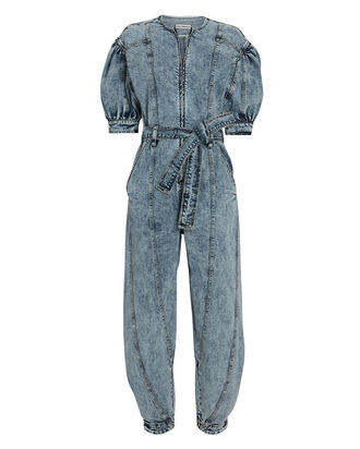 Sabra Denim Jumpsuit, , hi-res
