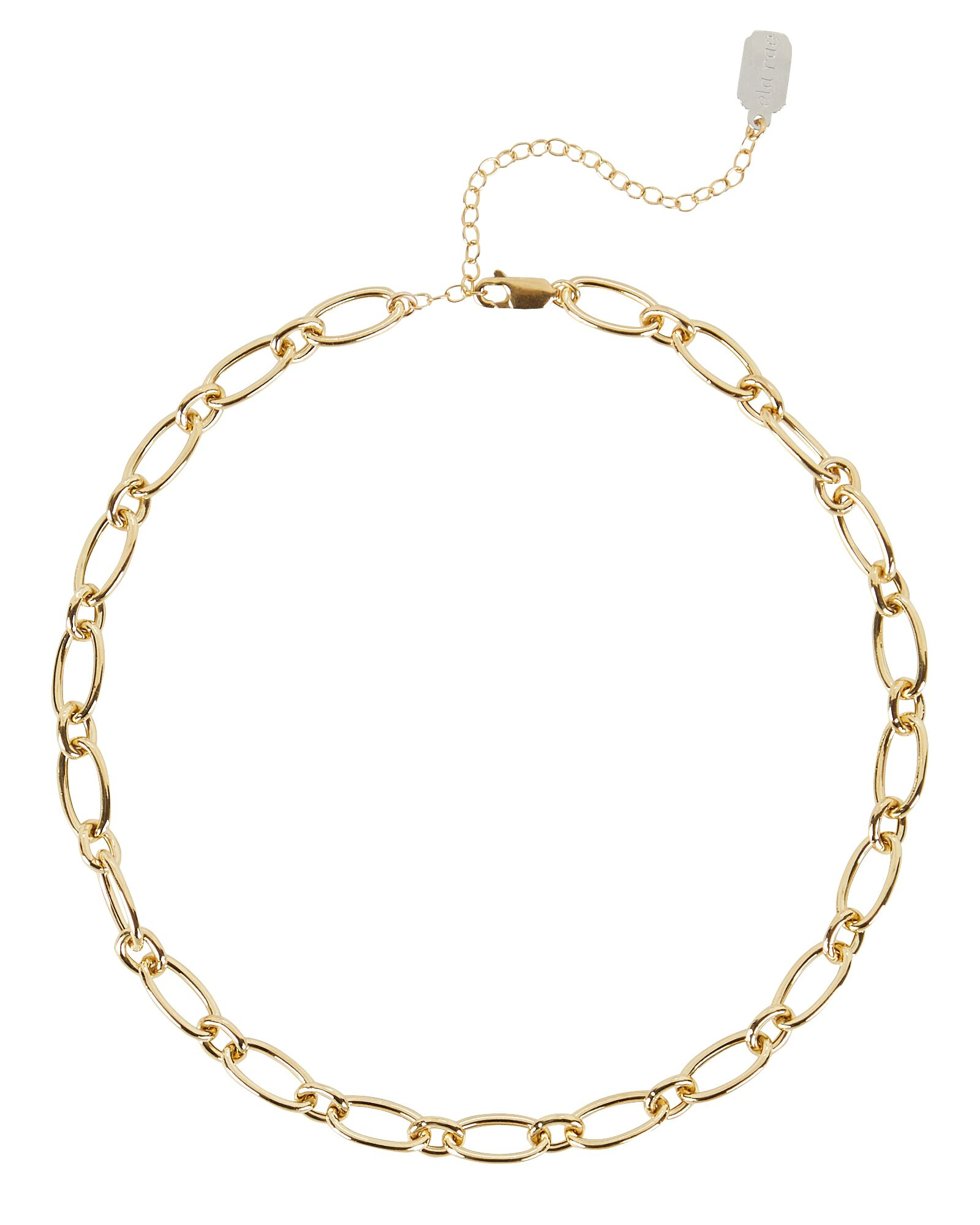 Ivy Chain Link Necklace, GOLD, hi-res