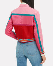 Alford Nylon Glitter Jacket, PINK, hi-res