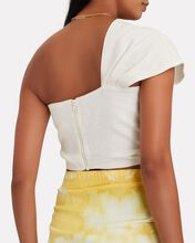Sol Knotted One-Shoulder Crop Top, IVORY, hi-res