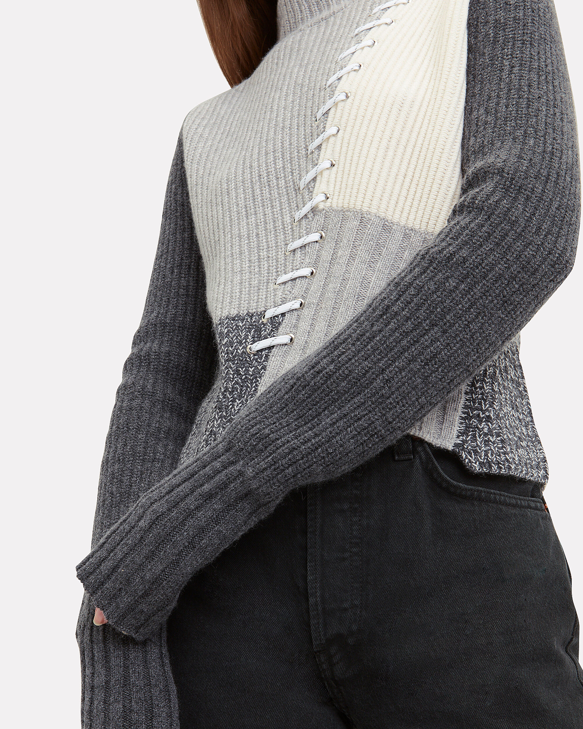 Kelly Laced Sweater, GREY, hi-res